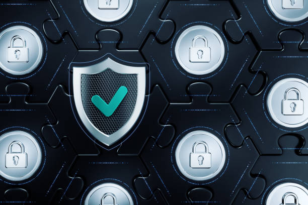 Cryptographic Cybersecurity stock photo