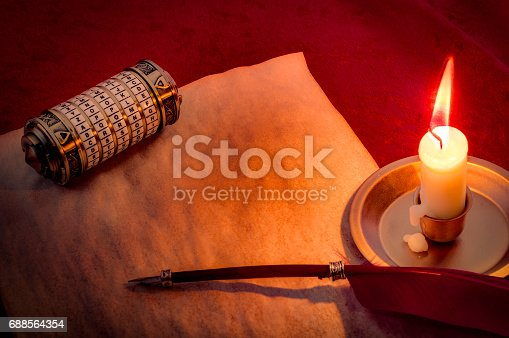 857874170 istock photo Cryptographic encoding and sending secretes concept 688564354