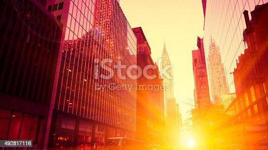 Sunset, Crysler building, New York