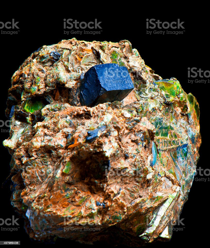 crystal aggregate stock photo