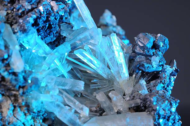 Crystal and metal stock photo