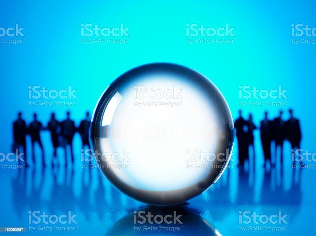 Crystal Ball and Buisness Prediction royalty-free stock photo