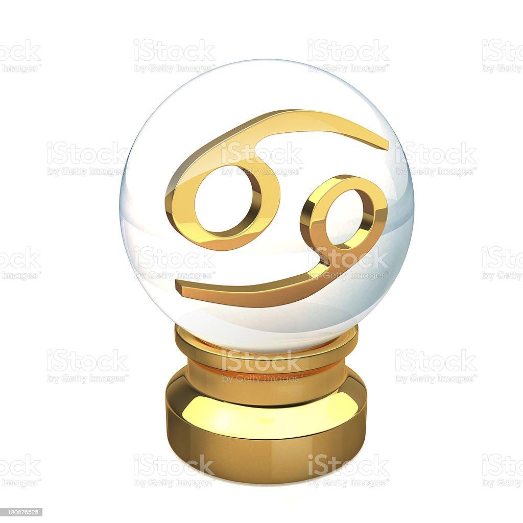 Crystal ball Cancer royalty-free stock photo