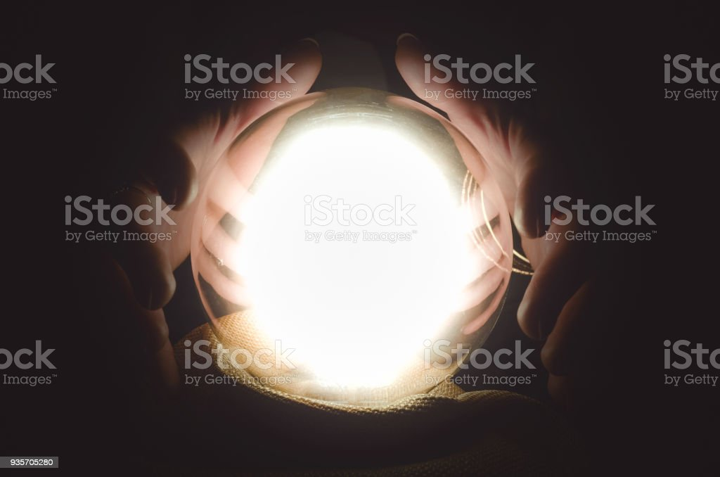 Crystal ball. Future reading. The seance. royalty-free stock photo