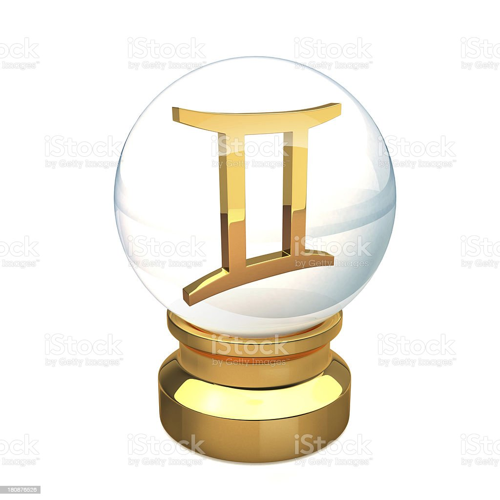 Crystal ball Gemini royalty-free stock photo