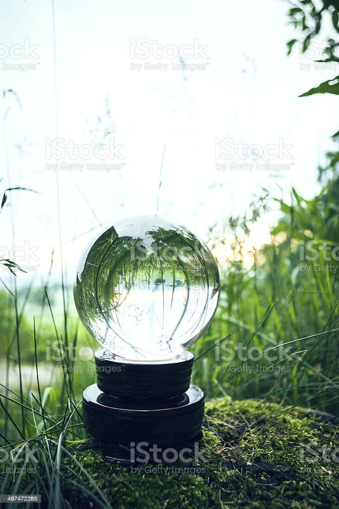 Glaskugel der Natur stock photo