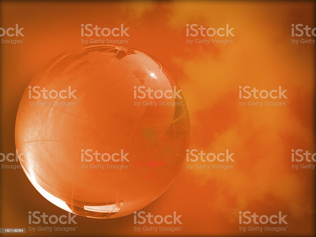 Crystal ball of world royalty-free stock photo