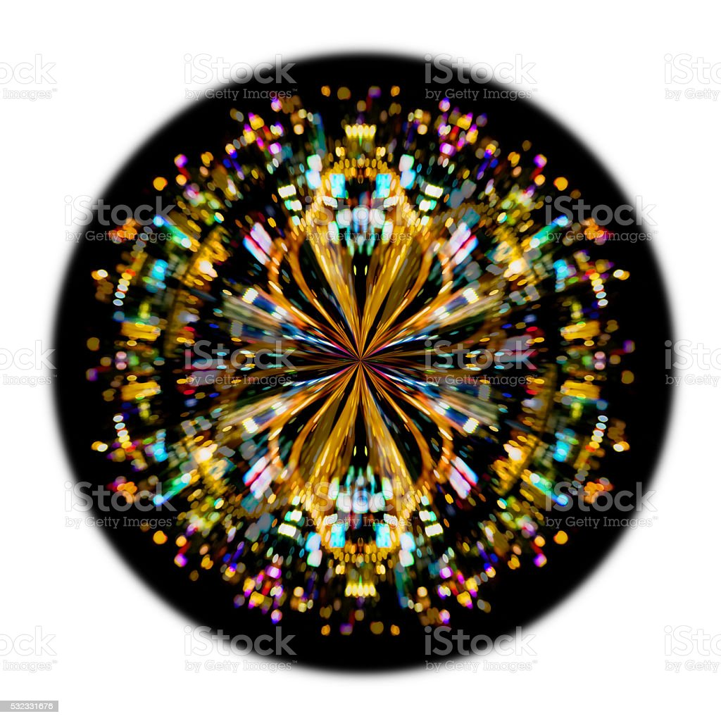 Crystal Ball Or Particle Ball Background Stock Photo