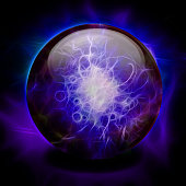Crystal Ball. Vivid purple - blue colors