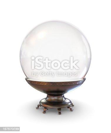 Flawless magical crystal sphere.