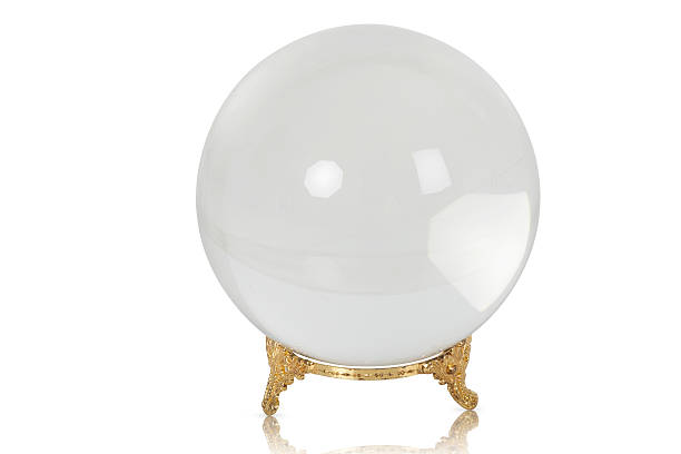 Crystal Ball- What will the future bring stock photo