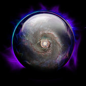 Crystal Ball with Galaxy and Eye