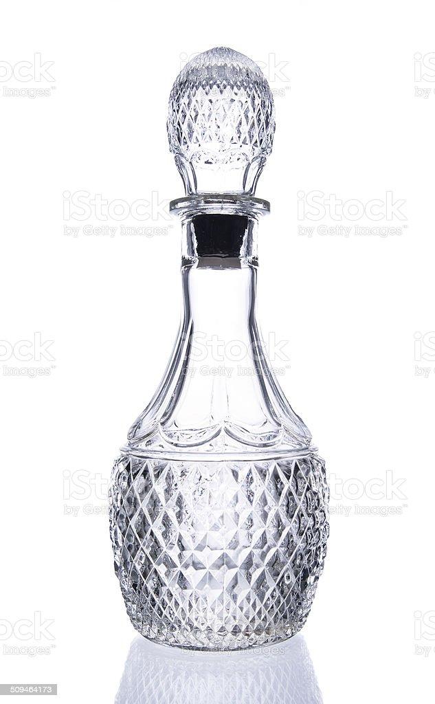 crystal bottle stock photo