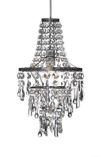 Crystal Chandelier crystal chandelier on a white background chandelier stock pictures, royalty-free photos & images