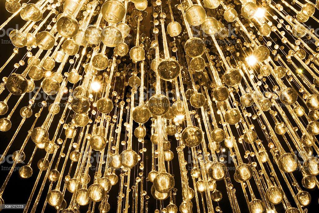 Crystal chandelier stock photo