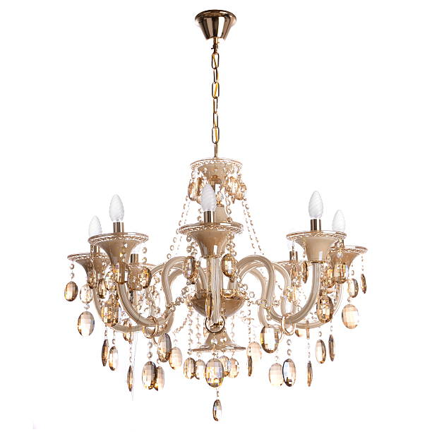 crystal chandelier crystal glass chandelier isolated chandelier stock pictures, royalty-free photos & images