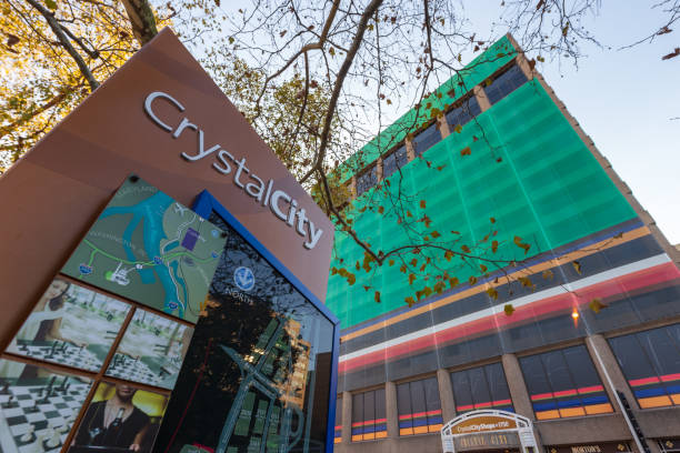 Crystal City Signage stock photo