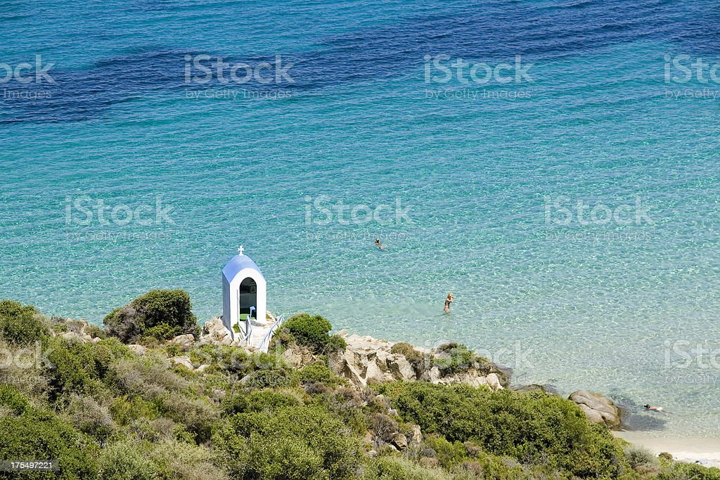 Crystal clear Mediterranean Sea stock photo