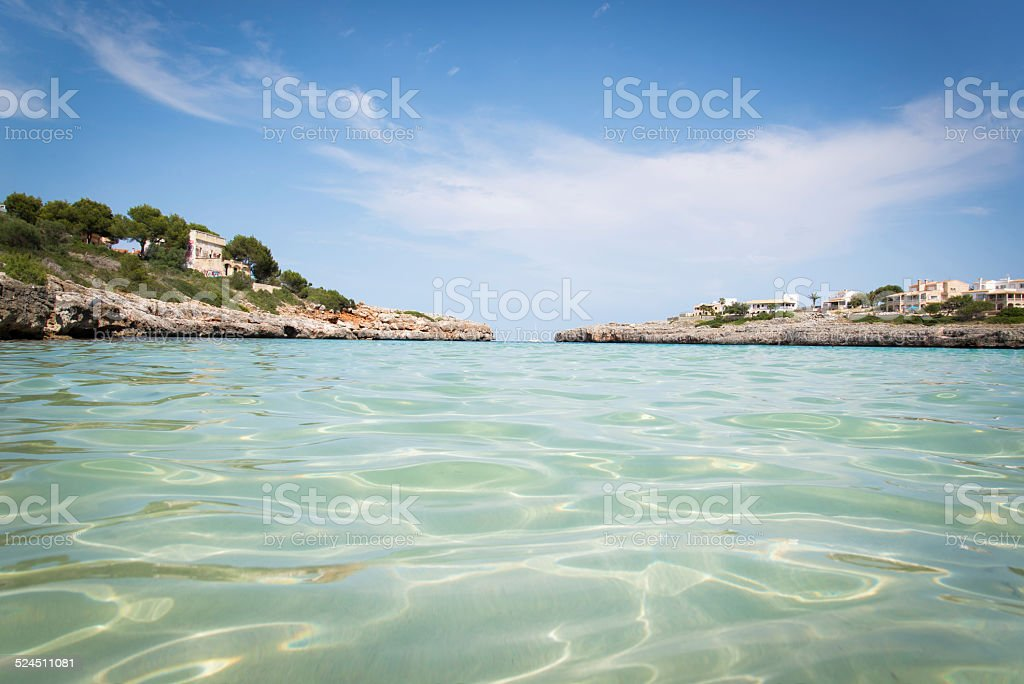 Crystal clear sea stock photo