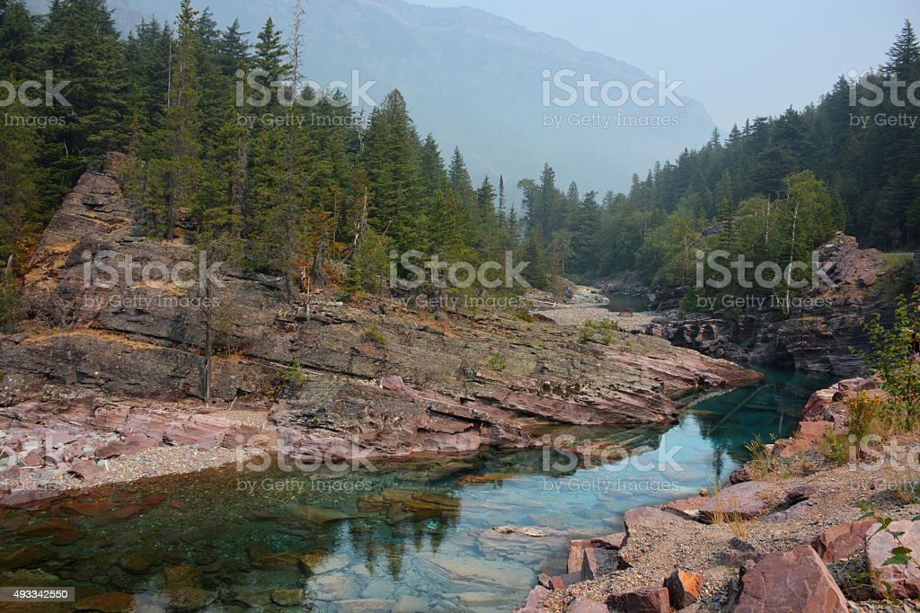 Crystal Clear Stream and Red Rocks stock photo