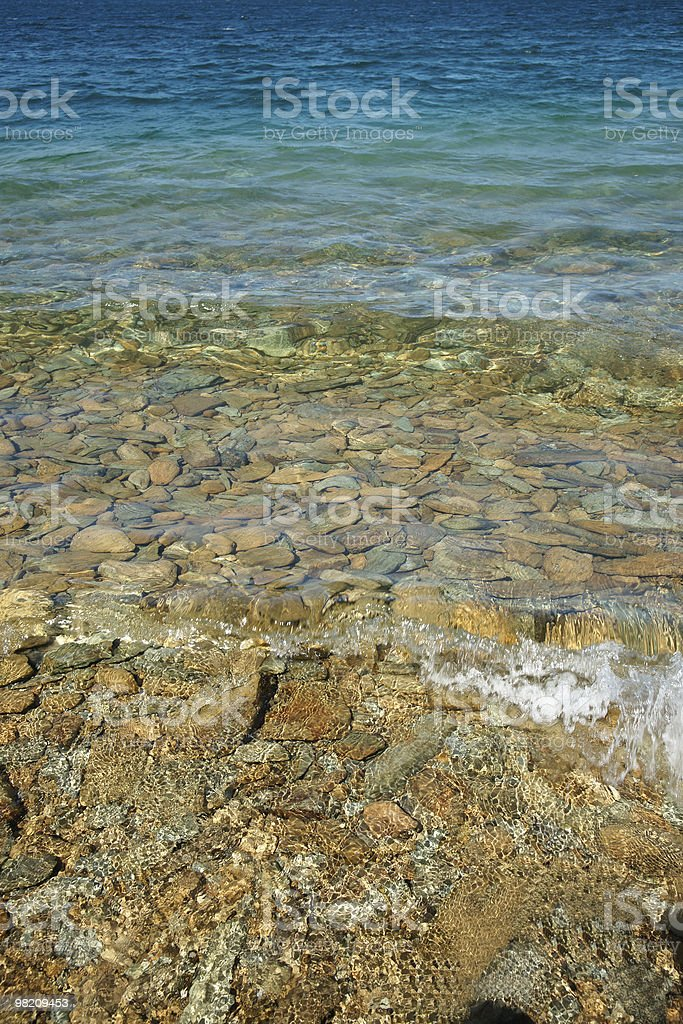 Crystal clear turquoise water royalty-free stock photo
