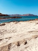 Magnificent view of the bay of Alcudia seen from the Mas Pas beach on the island of Majorca,Spain