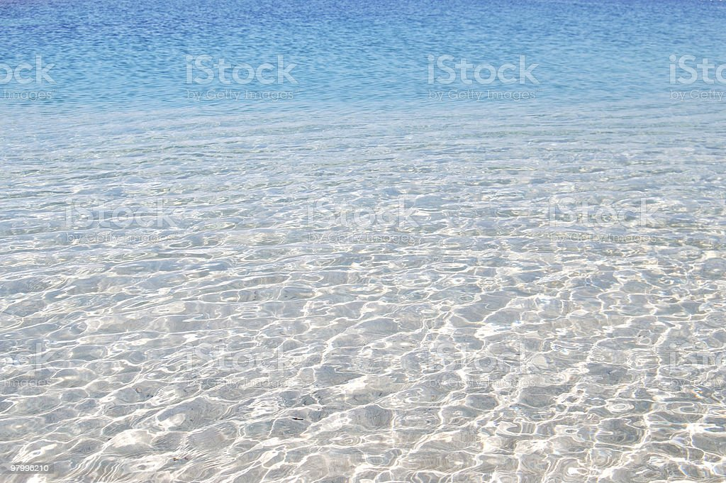 Crystal clear  water royalty free stockfoto
