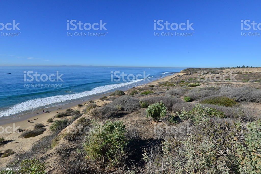 Crystal Cove State Park beach stock photo