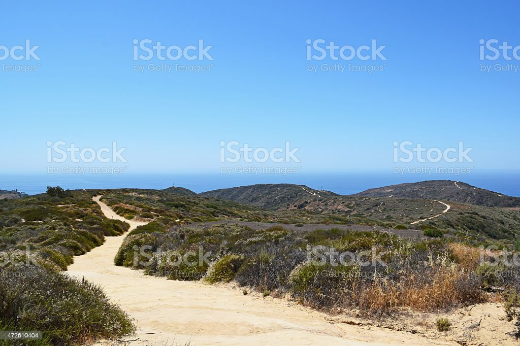 Crystal Cove State Park Hiking Trails stock photo