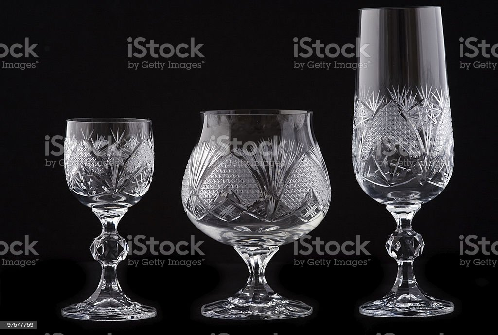 crystal cut glass royalty-free stock photo