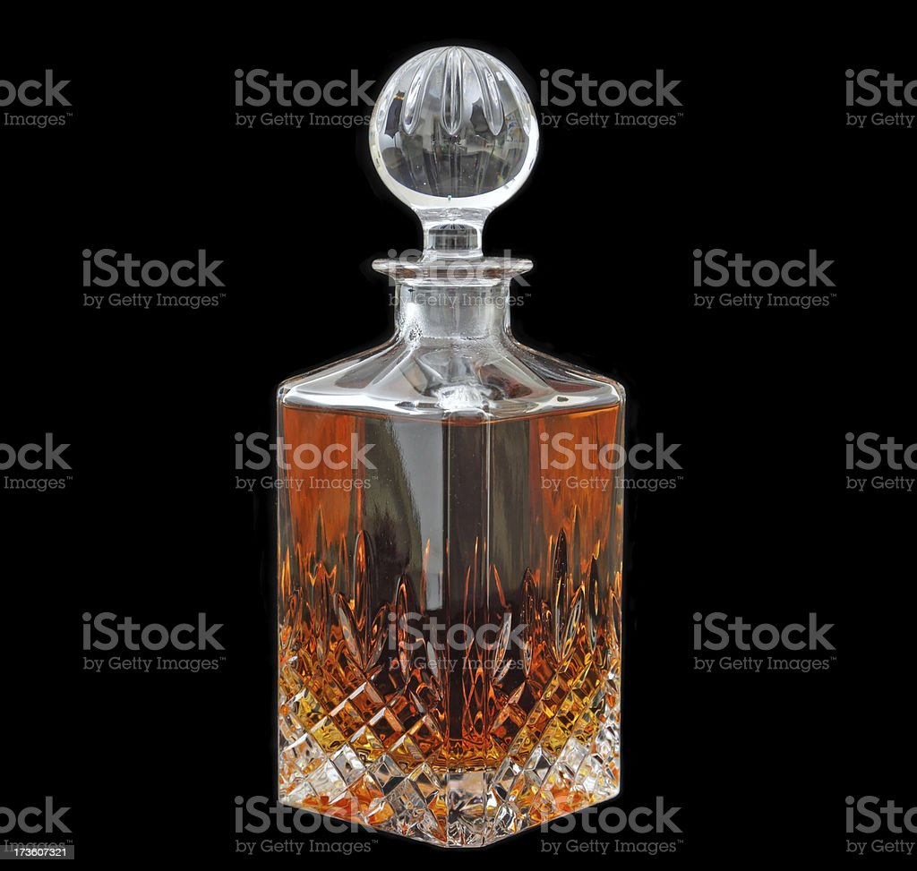Crystal decanter empty stock photo