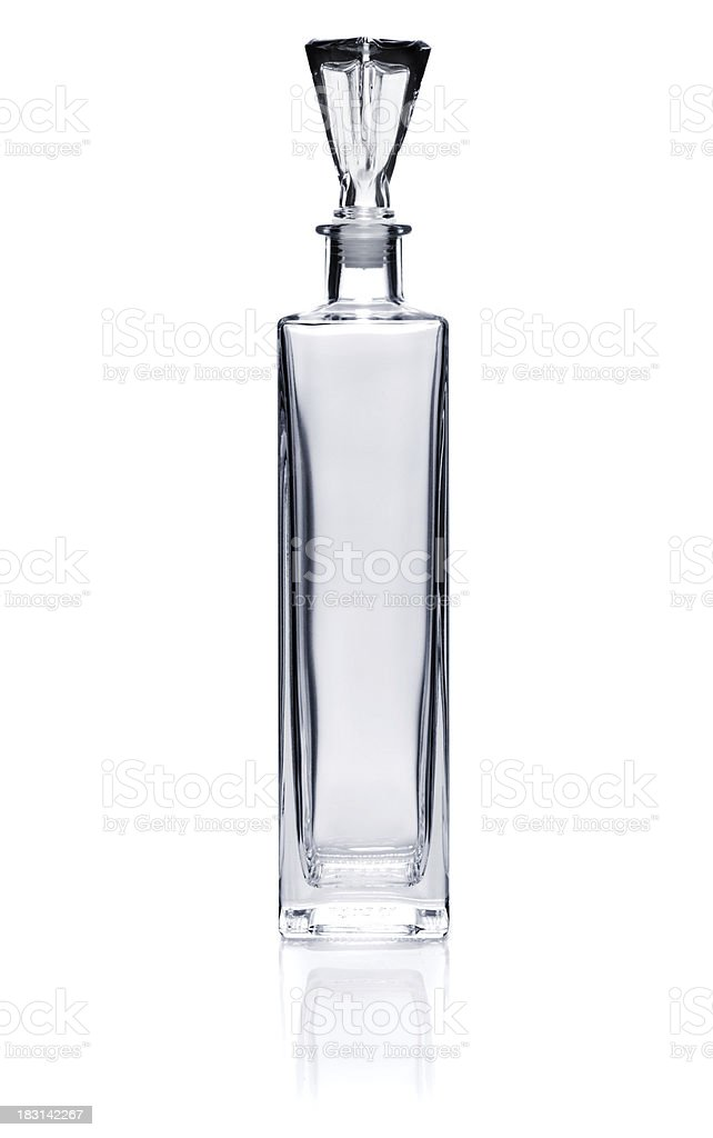 Crystal decanter stock photo