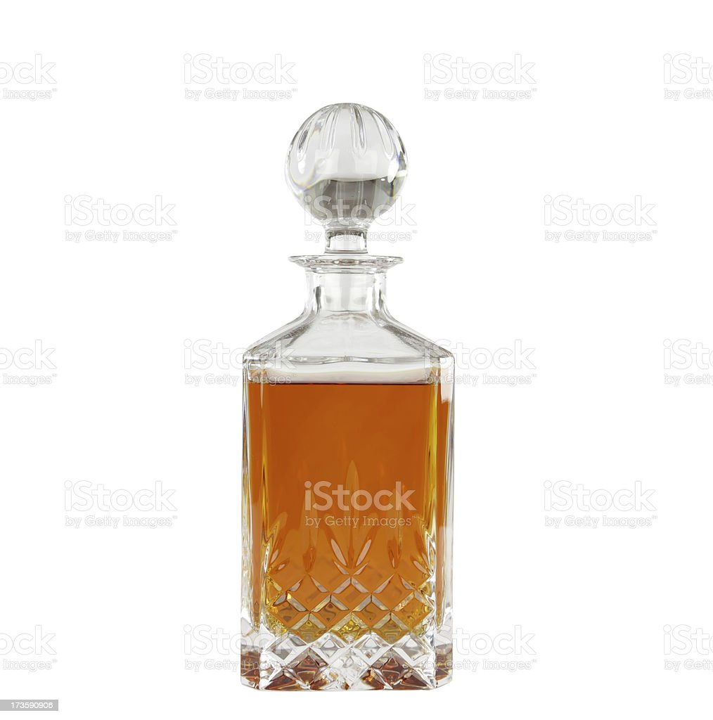 Crystal decanter with scotch royalty-free stock photo