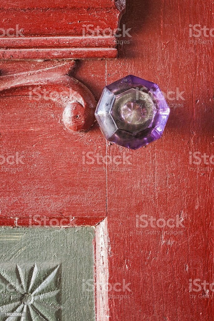 Crystal Doorknob royalty-free stock photo