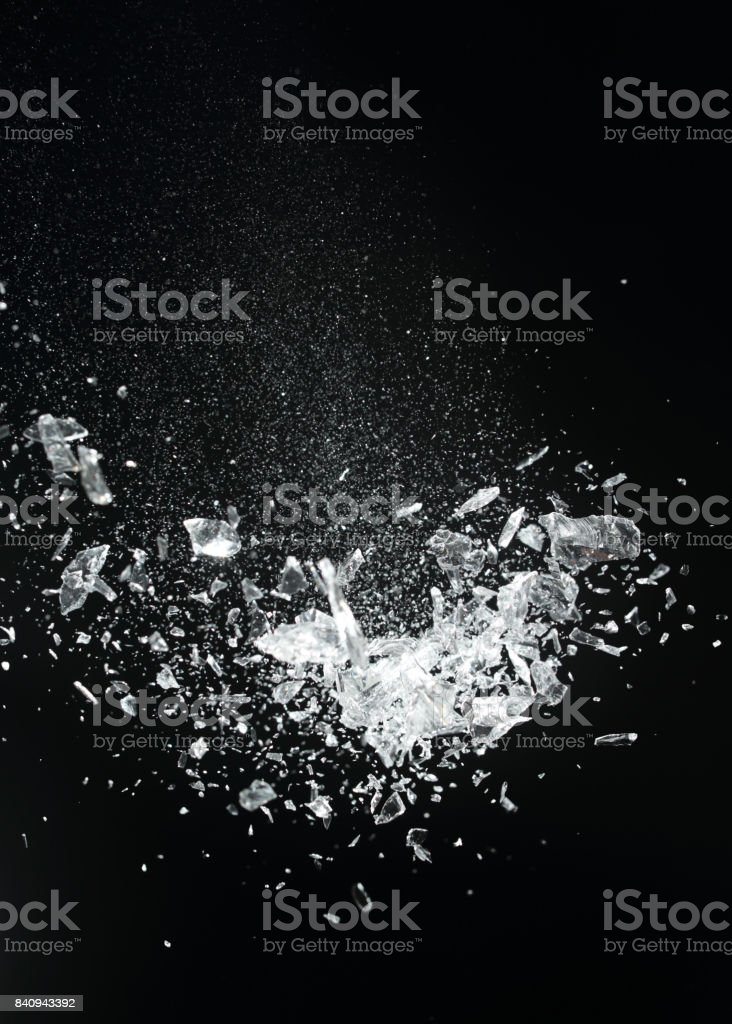Crystal exploding stock photo