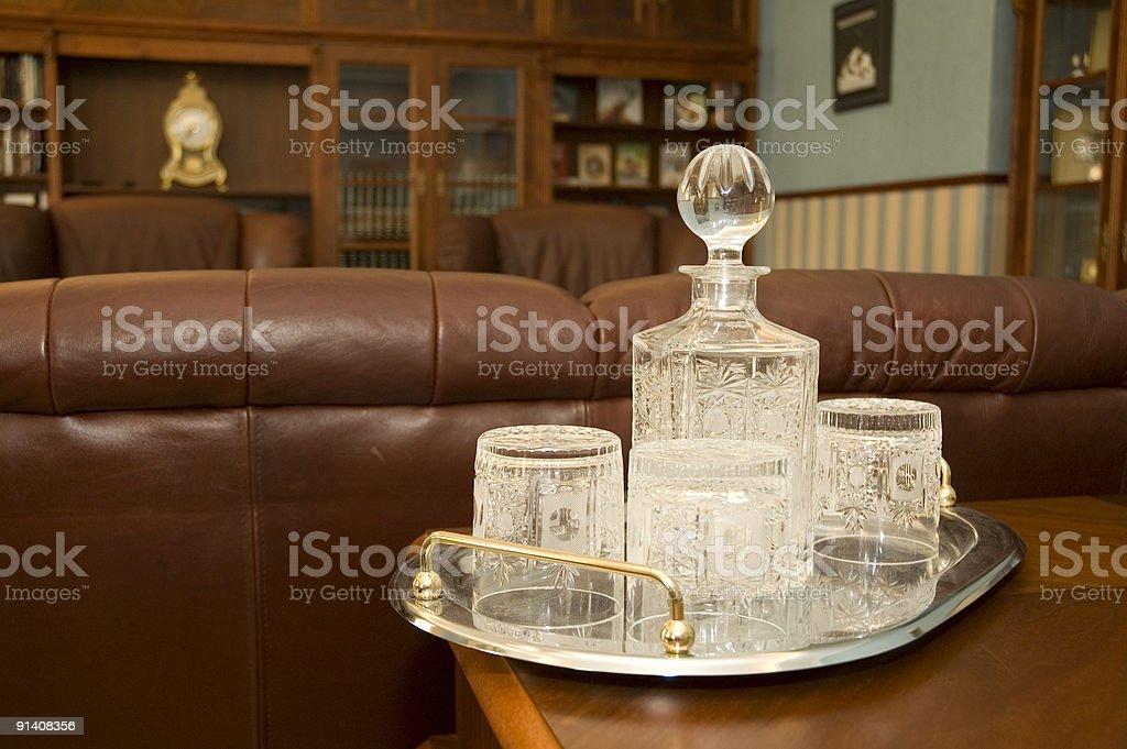 Crystal glass dishware royalty-free stock photo