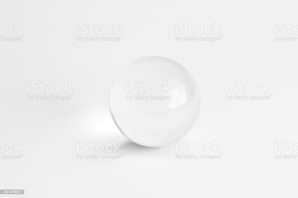 Lumière de fond verre cristal sphère boule objet Simple blanc Transparent photo libre de droits