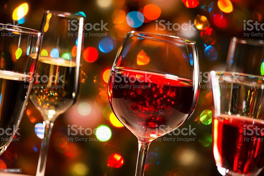 Kristall-Gläser Wein – Foto
