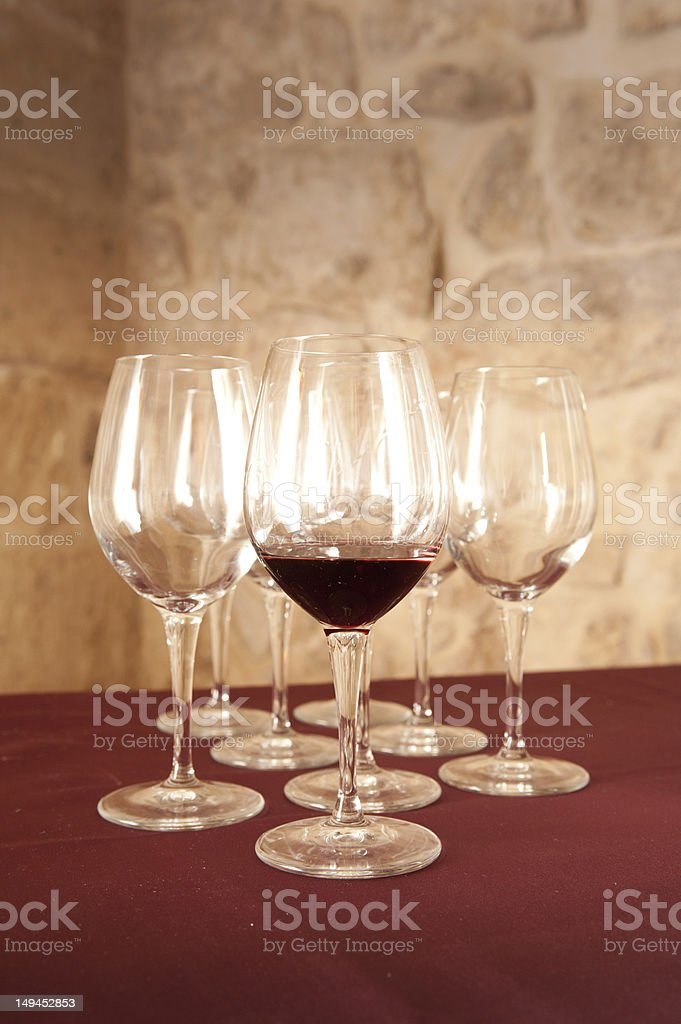 Crystal glasses stock photo