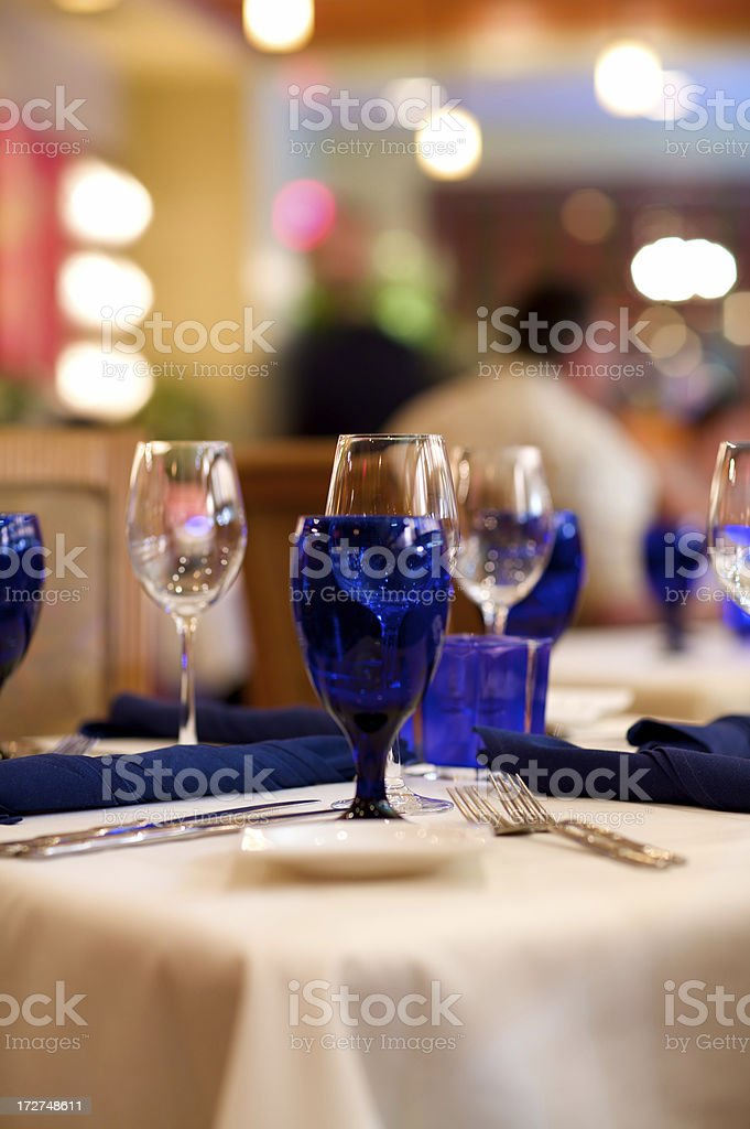 Crystal glasses royalty-free stock photo