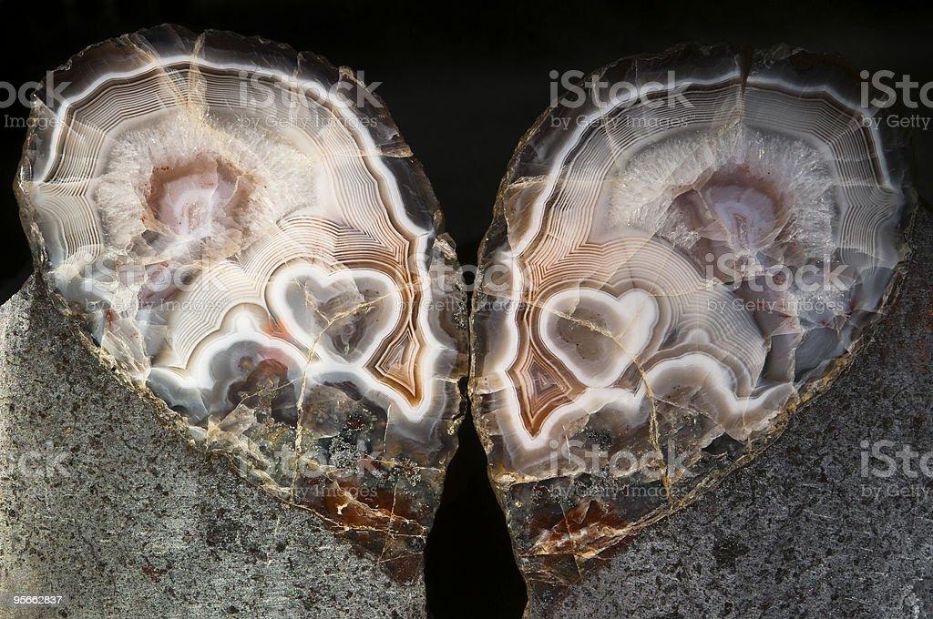 Crystal heart stock photo