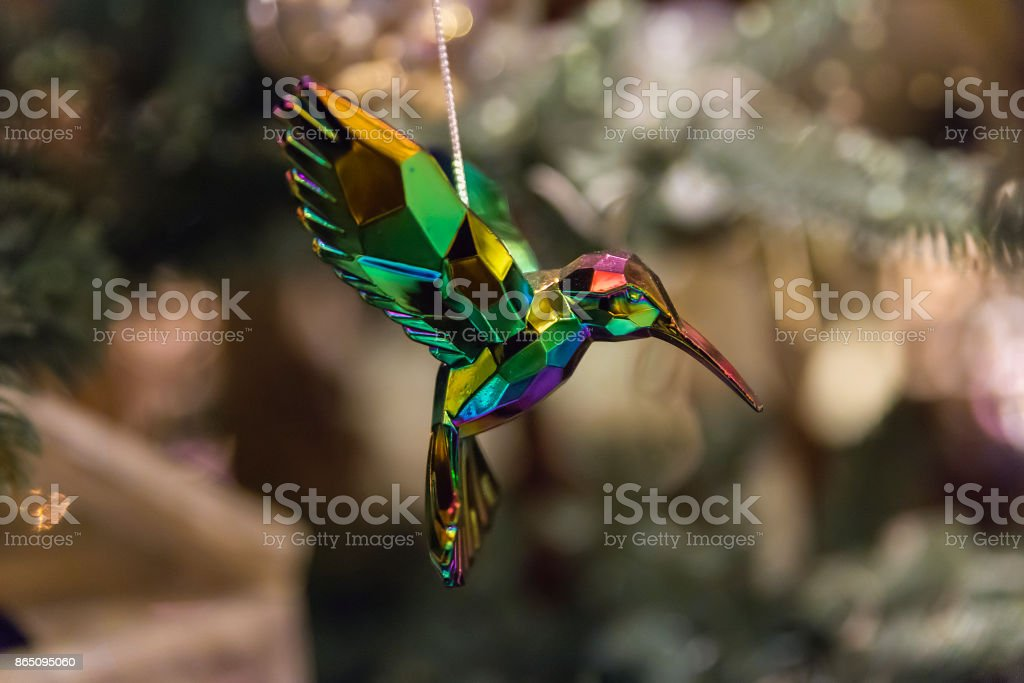 crystal hummingbird christmas ornament royalty free stock photo