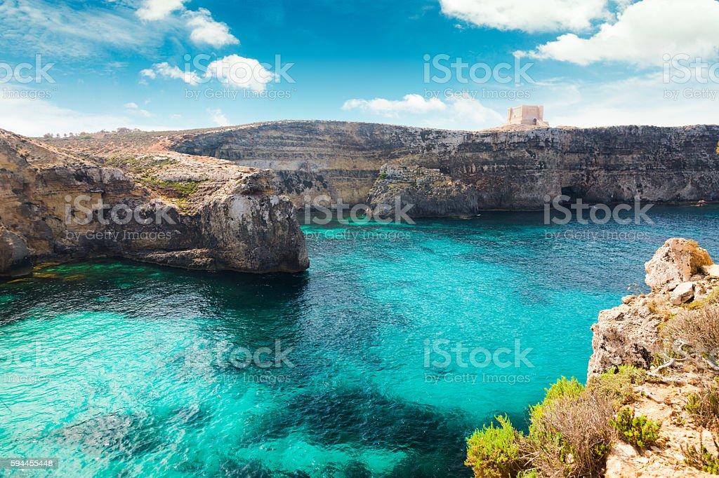 Crystal Lagoon Comino Island Malta Stock Photo - Download Image Now