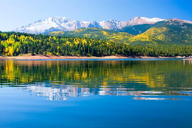 Crystal Lake on Pikes Peak stock photo