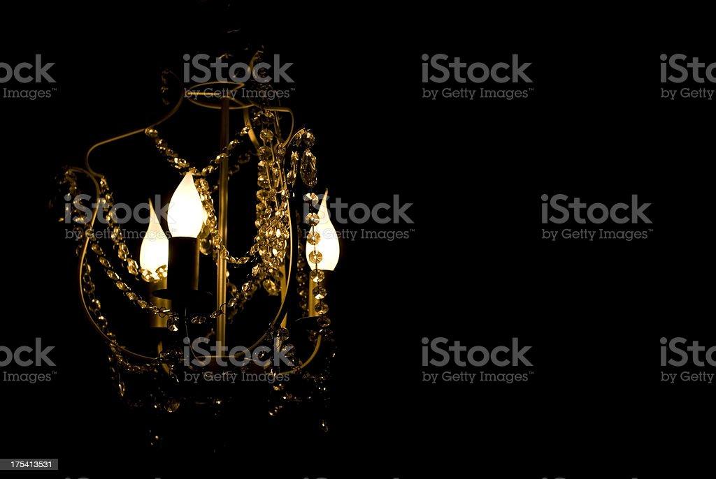 Crystal lamp royalty-free stock photo