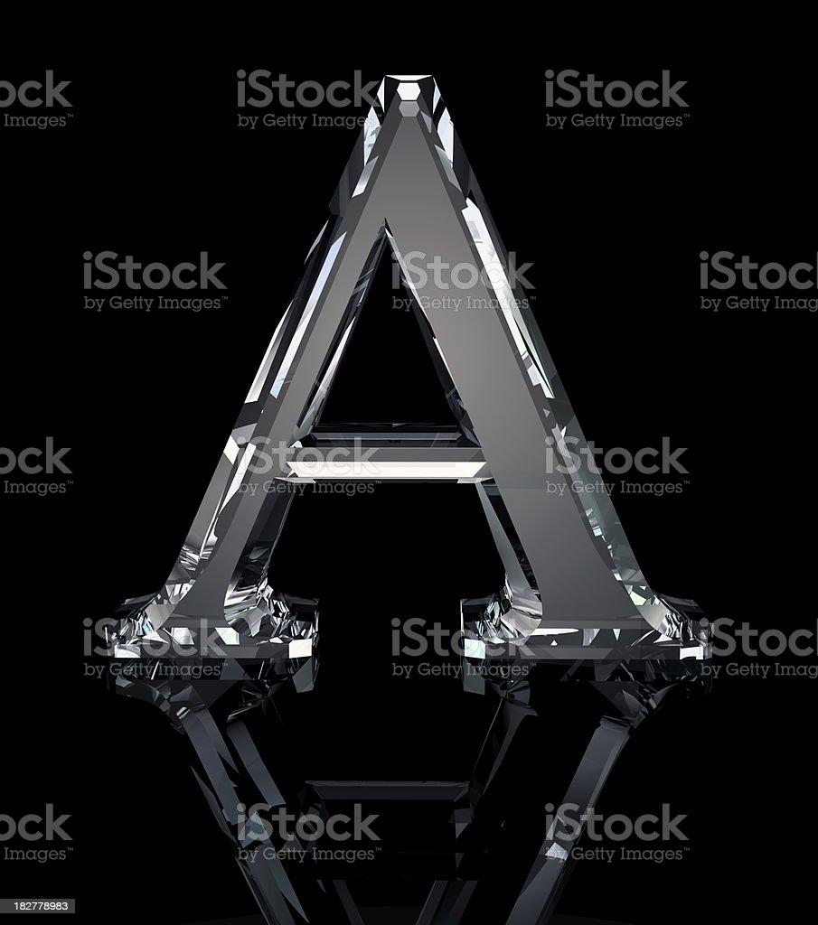 Crystal Letter A stok fotoğrafı