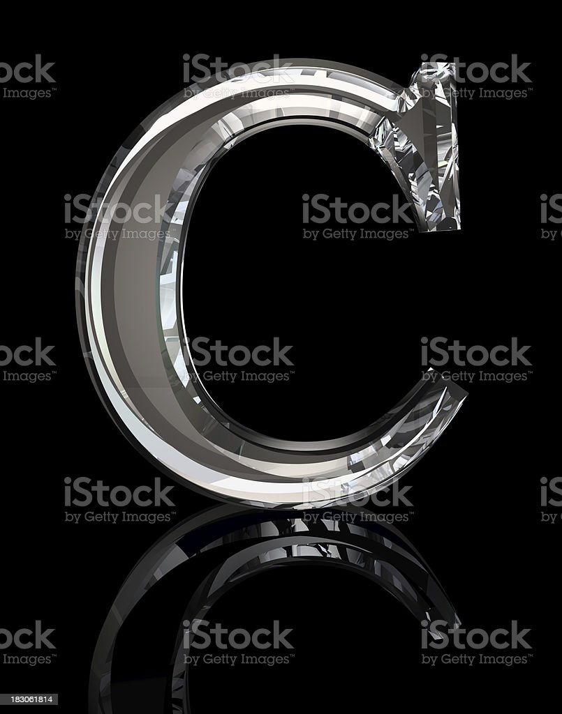 Crystal Letter C stock photo