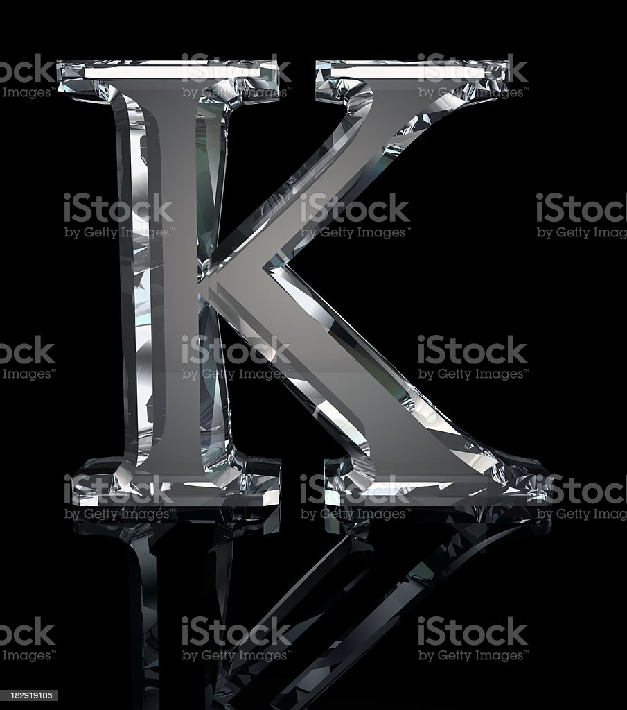 Crystal Letter K royalty-free stock photo