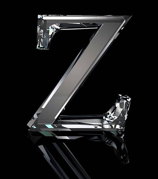 Crystal Letter Z stock photo