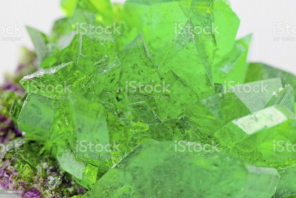 crystal macro photo in emerald color royalty-free stock photo